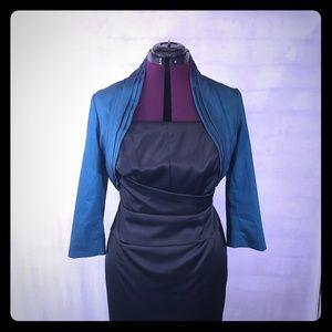 Adrianna Papell satin formal jacket medium